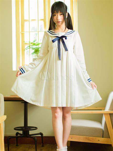 Dress Sailor high waisted sailor dress milanoo