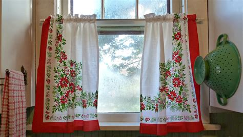 vintage looking curtains old glory cottage it s beginning to look alot like