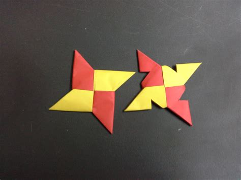 Origami Shuriken - how to make a paper step by step tutorial