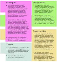 swot analysis strengths weaknesses opportunities and