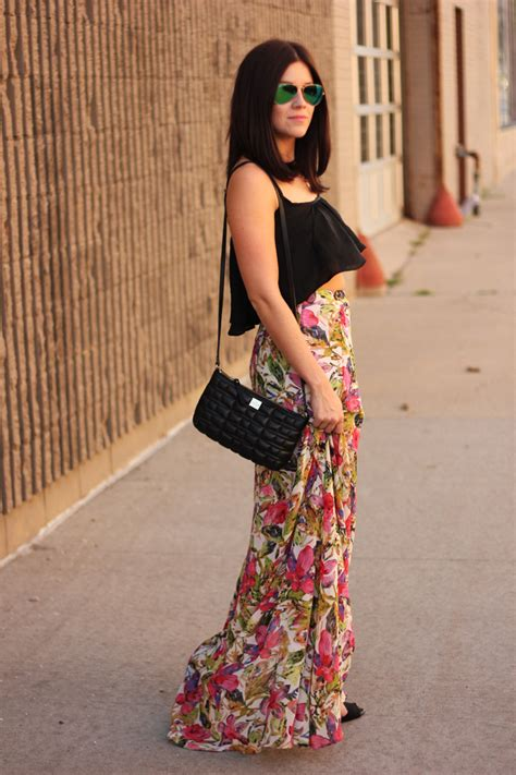 my style crop top floral maxi skirt the one