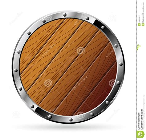 woodworking shield wooden shield isolated on stock vector image