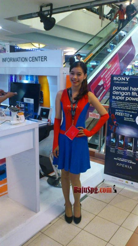 Kaos Spiderman2 desain baju spg counter sony mobile communication