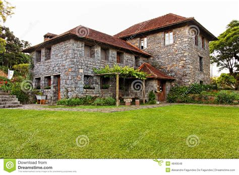 Country Farm House Plans Old Country Stone House Bento Goncalves Royalty Free Stock
