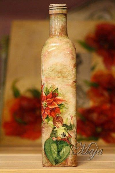 Decoupage Bottle Ideas - bottle with decoupage decoupage decoupage on