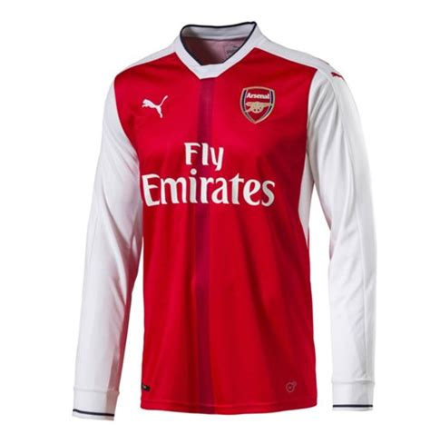 Kaos Arsenal The Guneer New Uk M buy official 2016 2017 arsenal home sleeve shirt