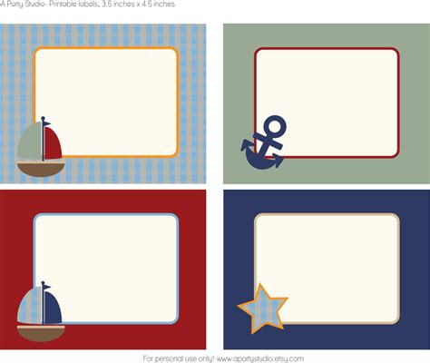 printable theme party decor free sailboat printables a party studio