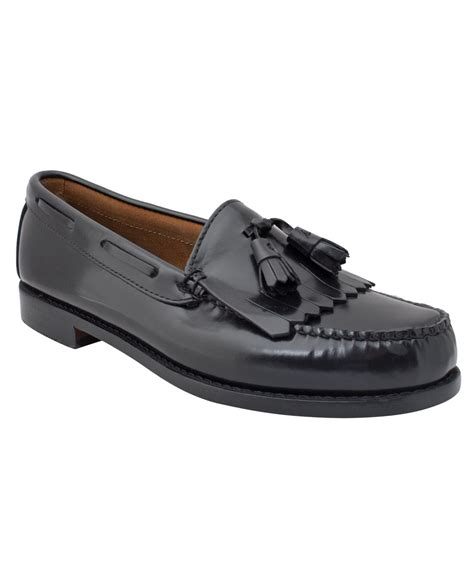 loafer black g h bass co layton weejuns kiltie tassel loafers in