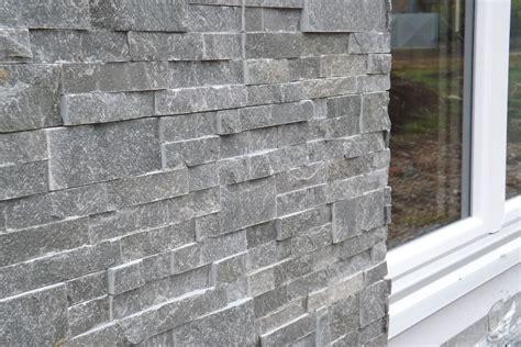 natursteinplatten wand verblender grau backes