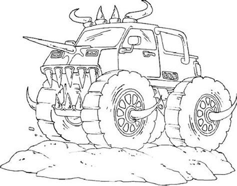 gambar mewarnai monster truck  anak paud  tk
