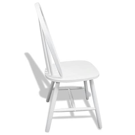 6 Wooden Dining Chairs Round White Vidaxl Co Uk 6 White Dining Chairs