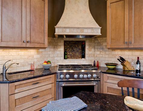 corner cooktop transitional kitchen canopy trough sink niche