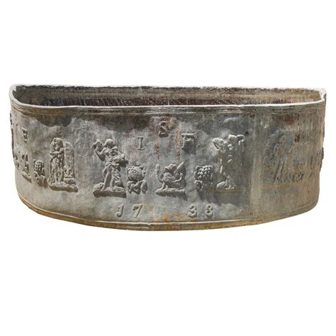Lead Planters For Sale by An Antique Lead Demi Lune Cistern Planter At 1stdibs