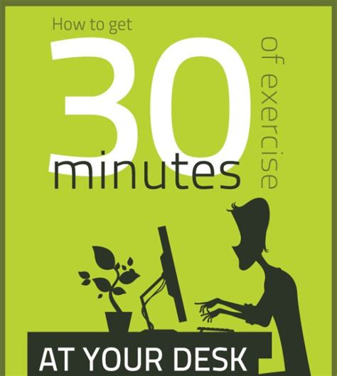 how to get 30 minutes of exercise at your desk infographic