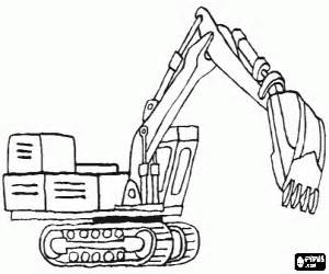construction vehicles coloring pages printable games