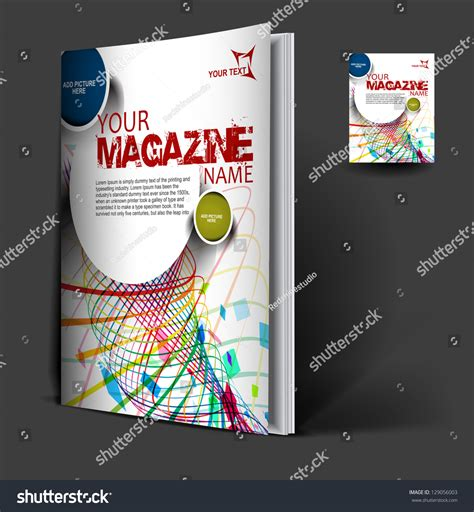 magazine cover design vector magazine cover layout design vector stock vector 129056003