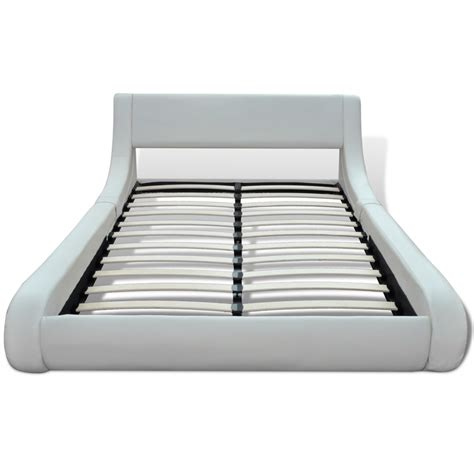 Bed Frames 200 Artificial Leather Bed Frame 180 X 200 Cm Curl White Www