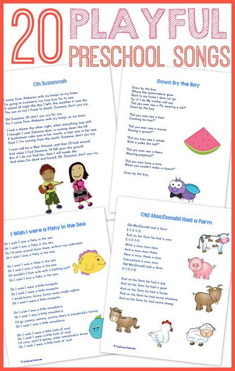 best songs free 20 best preschool songs free printable wildflower