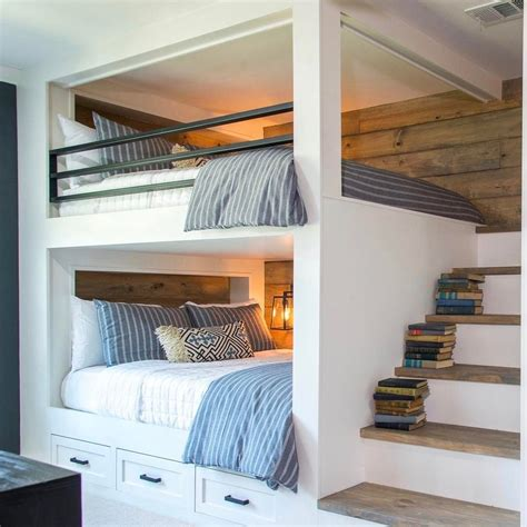 rooms with bunk beds built in bunk beds ideas to make an enjoyable bedroom design fixer remodel ideas bunk