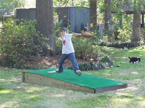 backyard pitching mound dad s building next weekend portable pitchers mound