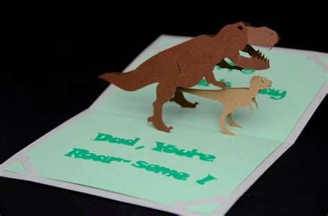 creative pop up cards templates dinosaur pop up card template