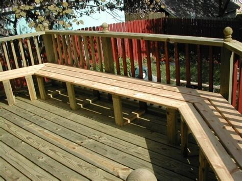 bench railing for deck deck bench for pool railing decks benches pinterest