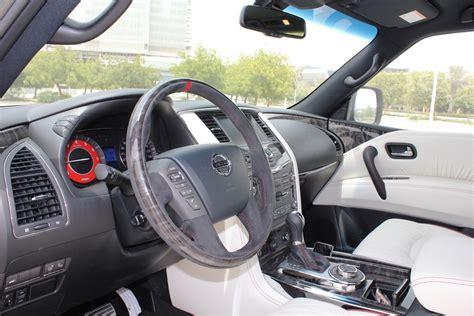 nissan patrol nismo red interior nissan patrol nismo 2016 review uae yallamotor