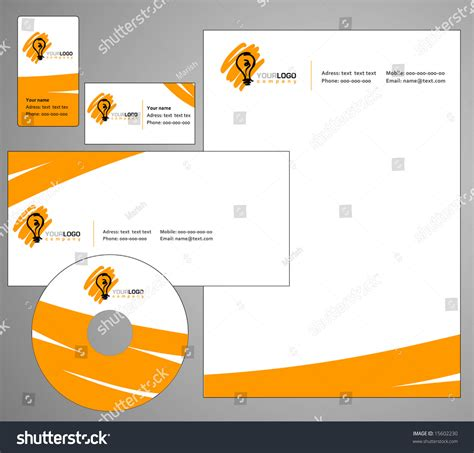 letterhead template design vector stock vector 15602230