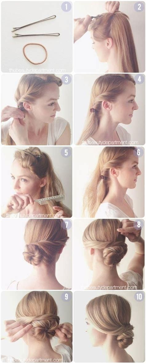 easy hairstyle tutorials for hair everyday hairstyles tutorial easy low chignon bun