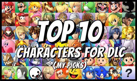top 10 dlc characters smash bros 4 3ds wii u