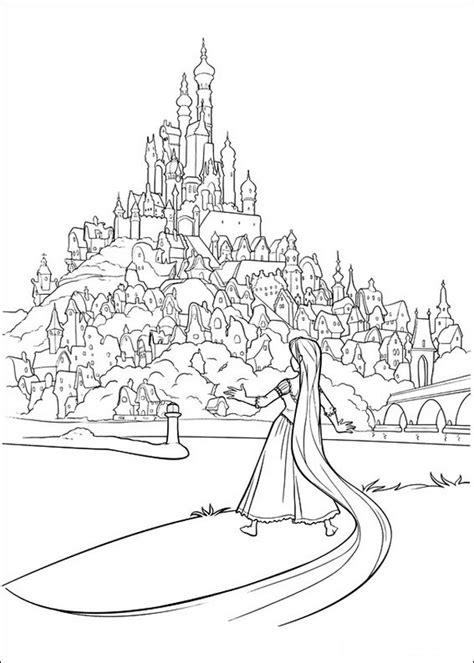 barbie castle coloring page ausmalbilder rapunzel bild das schloss seiner eltern
