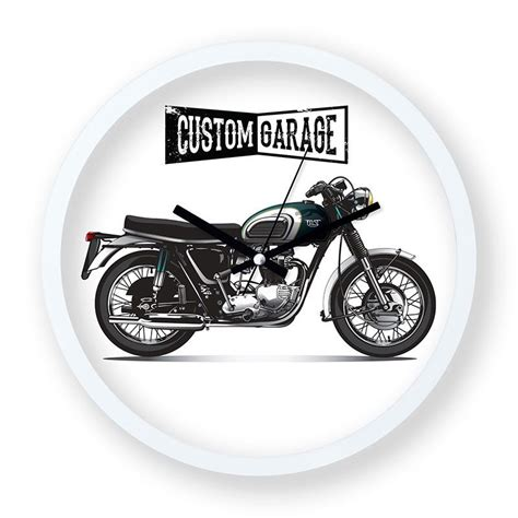 oezel garaj motosiklet tasarim duvar saati duvar