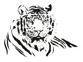 Leopard Wall Stickers both black and white tiger vector free vector 4vector