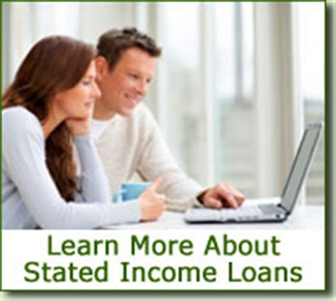 stated income loans no income verification mortgage