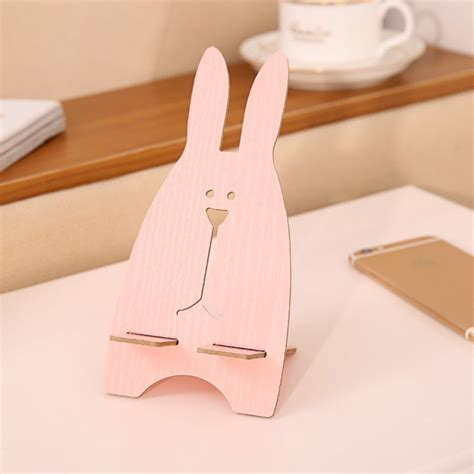 Rabbit Phone Holder jubilee rabbit wooden mobile phone holder mobile