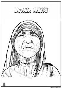 Mother teresa coloring pages activities moreover worksheet math word