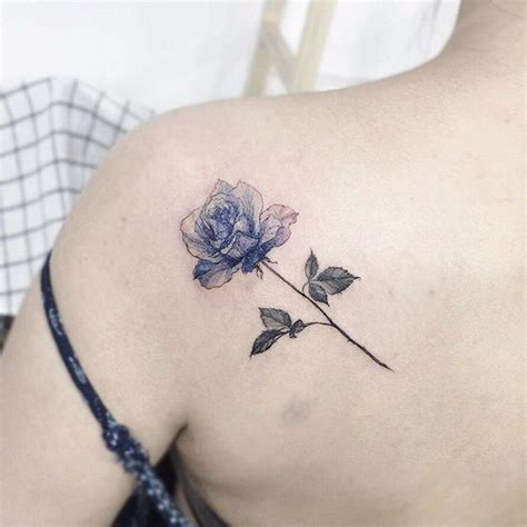 blue rose tattoo and piercing pin by electra georgiadou on ideas