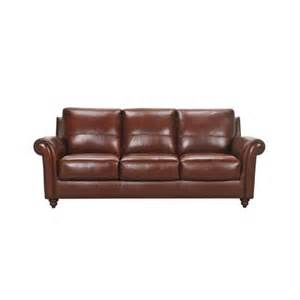 violino 3508 leather sofa with rolled arms and turned wood
