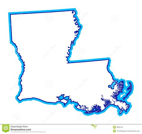 state of louisiana outline of state of louisiana royalty free stock images image 3839749