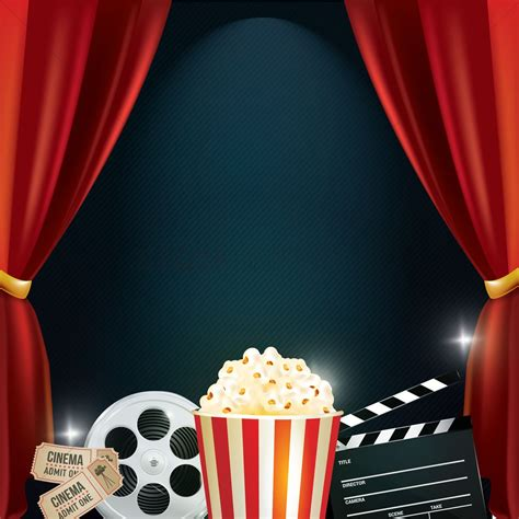 themes in comedy films cinema background with movie objects vector image
