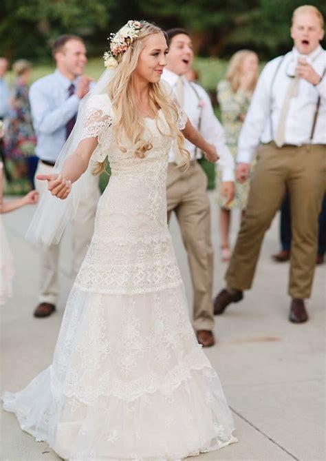 Wedding Hairstyles Based On Dress by Alta Moda Bridal Modest Wedding Dresses