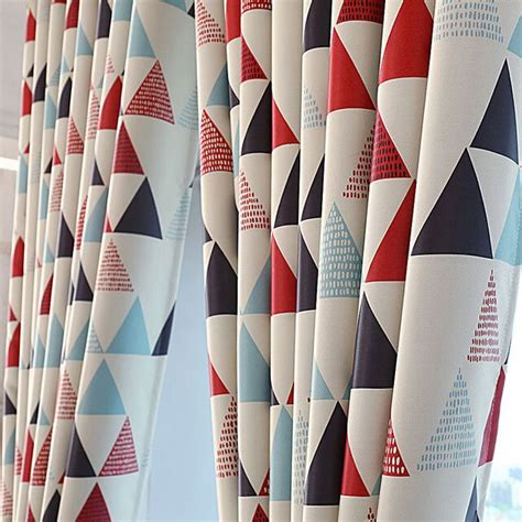 geometric red curtains 25 best ideas about geometric curtains on pinterest