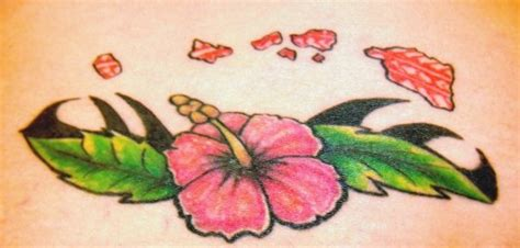 amber island tattoo my hawaiian islands and a hibiscus flower pretty