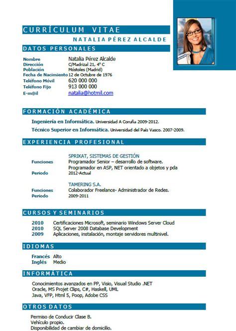 Plantilla De Curriculum Para Recien Egresados Plantillas Y Ejemplos De Curriculum En Alem 225 N Trabajar En Alemania Cvexpres Page 8