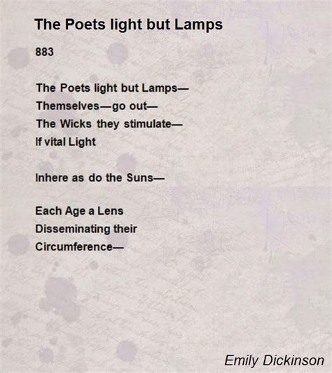 the poets light but ls poem by emily dickinson poem