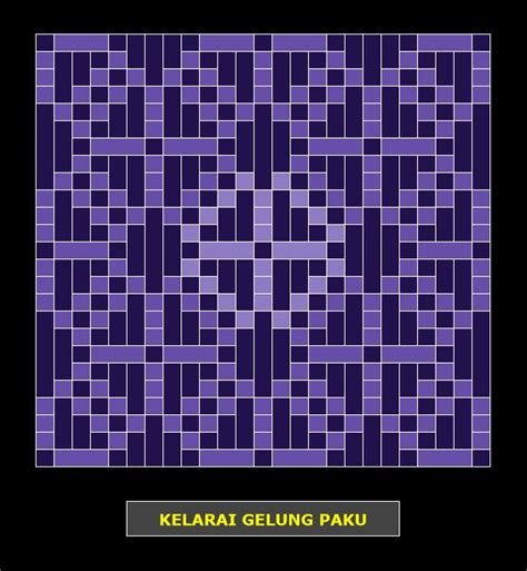 bunga tanjung pattern kelarai gelung paku weaving patterns kelarai pinterest