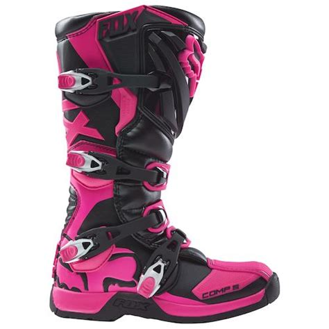 pink motocross boots fox racing youth comp 5 boots revzilla