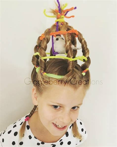 Giggleberry Creations!: Crazy Hair Day   Birdy Cage & Lizard!