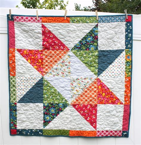 Baby Block Quilt Patterns For Beginners by Easy Diy Modern Baby Quilt Tutorial