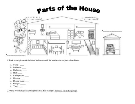 the parts house parts of the house